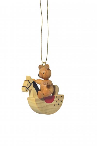 """Baumbehang """"Teddy auf Schaukelpferd"""""""