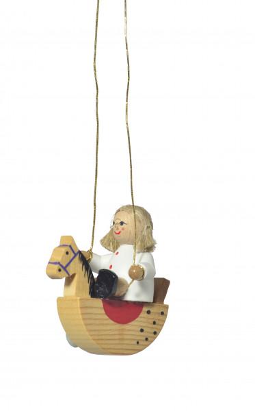 """Baumbehang """"Puppe auf Schaukelpferd"""" (Auslauf)"""
