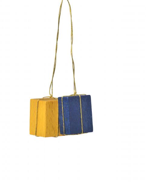 """Baumbehang """"Pakete gelb/blau"""""""