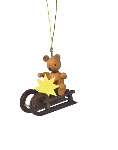 """Baumbehang """"Teddy auf Schlitten"""""""