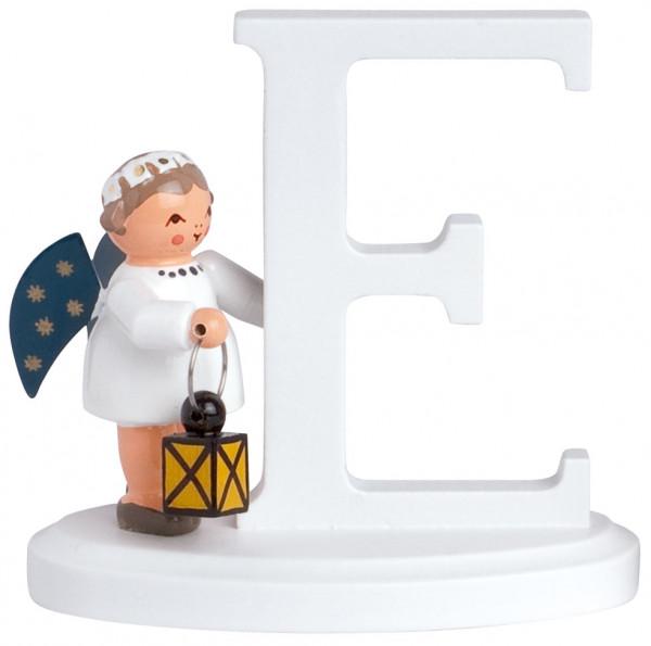 """Buchstabe """"E"""" mit Engel"""