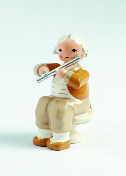 Musiker mit Querflöte, sitzend (Auslauf)