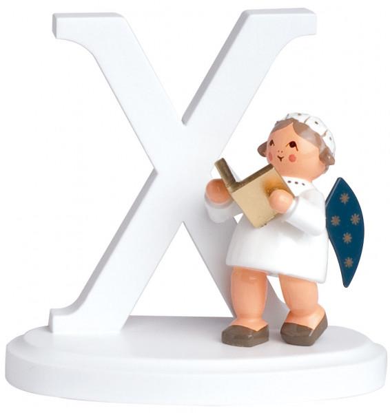 """Buchstabe """"X"""" mit Engel"""