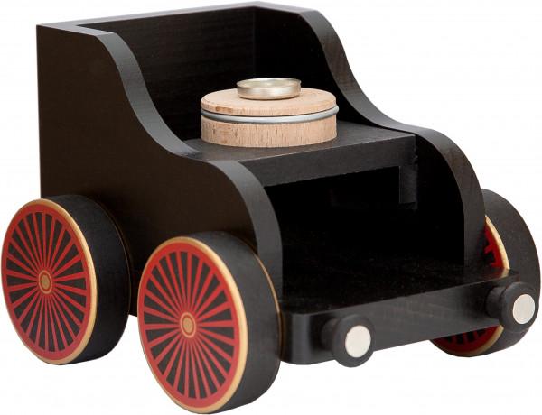 Eisenbahnwagen schwarz