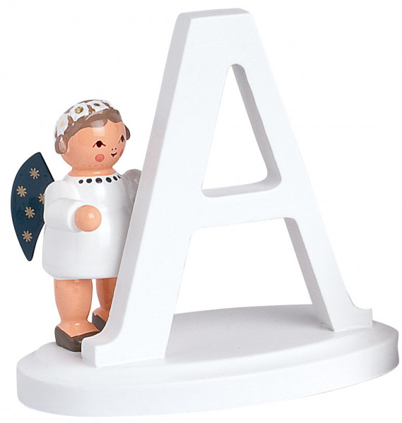 """Buchstabe """"A"""" mit Engel"""