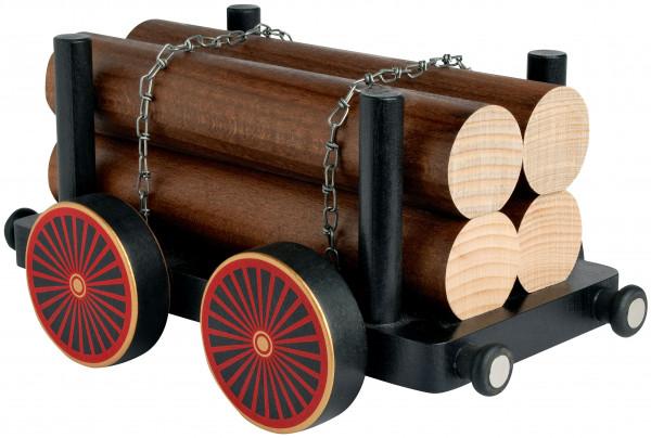 Eisenbahnwagen mit Holz