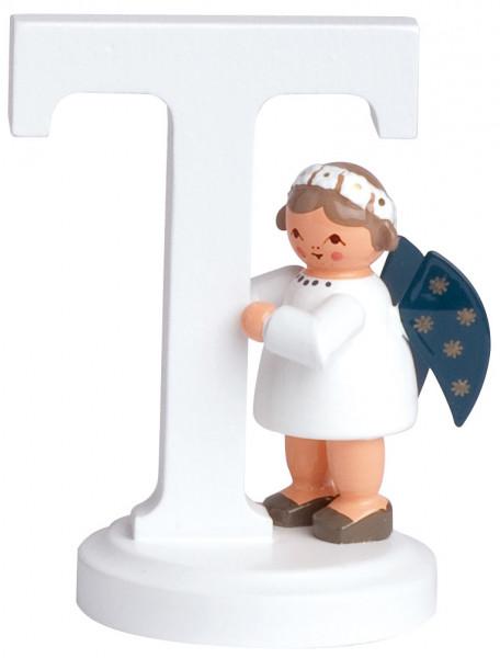 """Buchstabe """"T"""" mit Engel"""