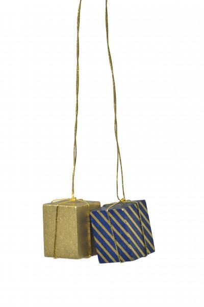 """Baumbehang """"Pakete gold/blau-gold"""""""