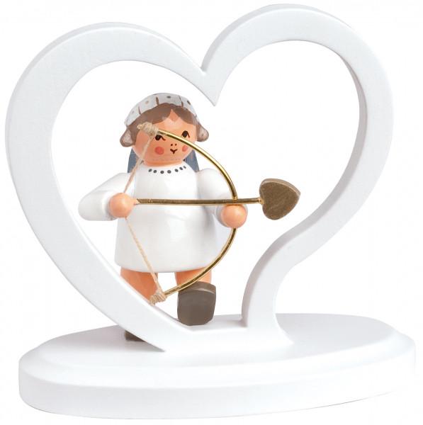 Herz mit Engel Amor