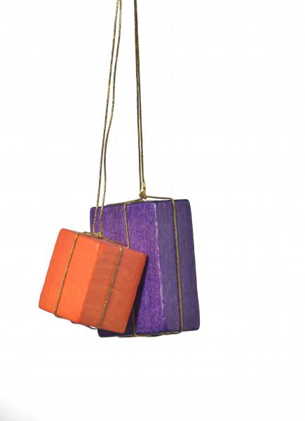 """Baumbehang """"Pakete orange/lila"""""""