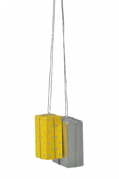 """Baumbehang """"Pakete gelb/silber"""""""
