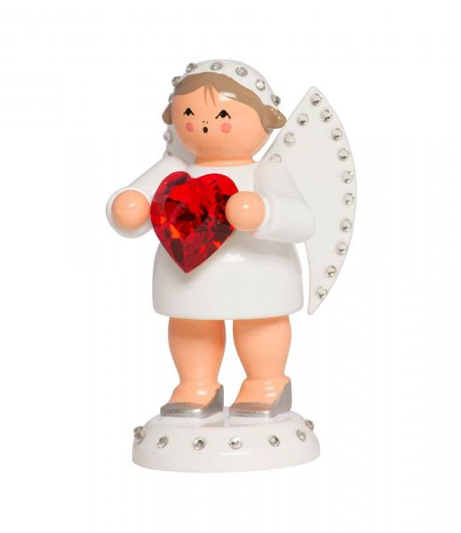 Liebesbote mit rotem Swarovski-Herz